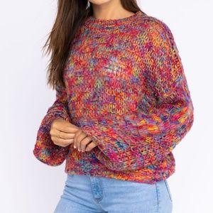 Le Lis Fuschia Rainbow Sweater